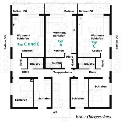 Grundriss Erdgeschoss / Obergeschoss
